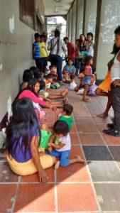 Familias desplazadas en Buenaventura.