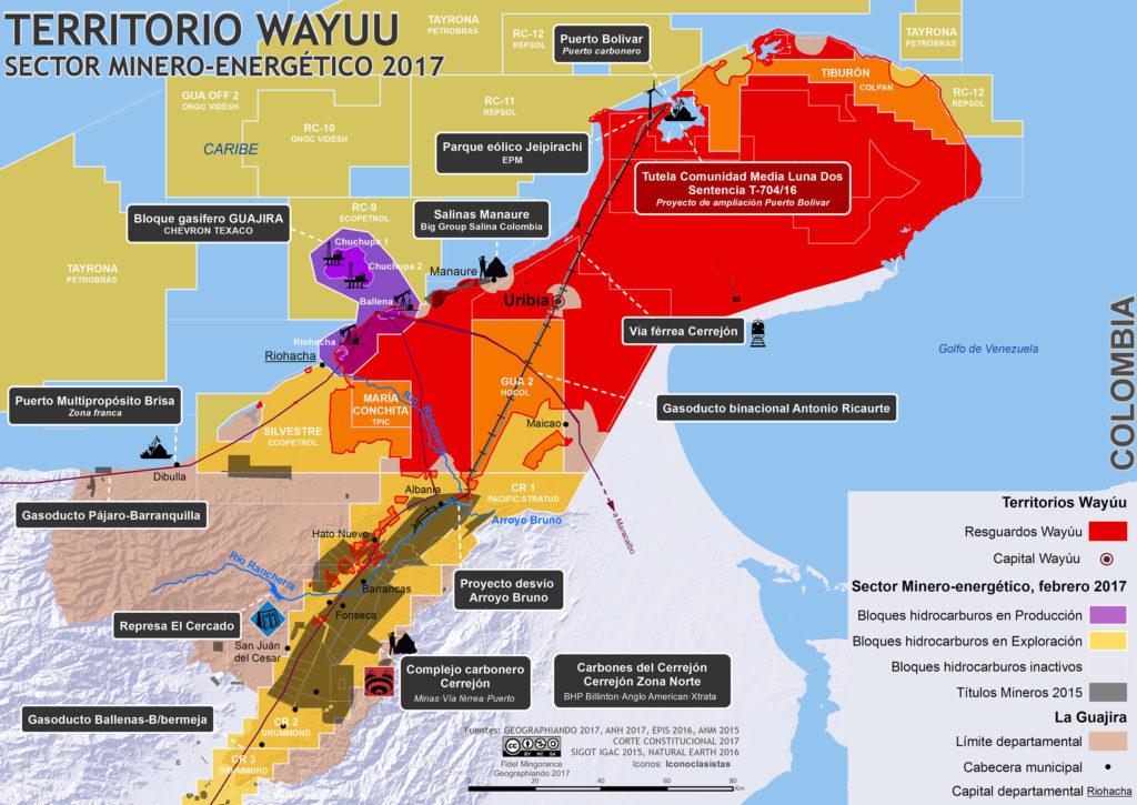 Sector Minero Energético la Guajira 2017 // Geographiando