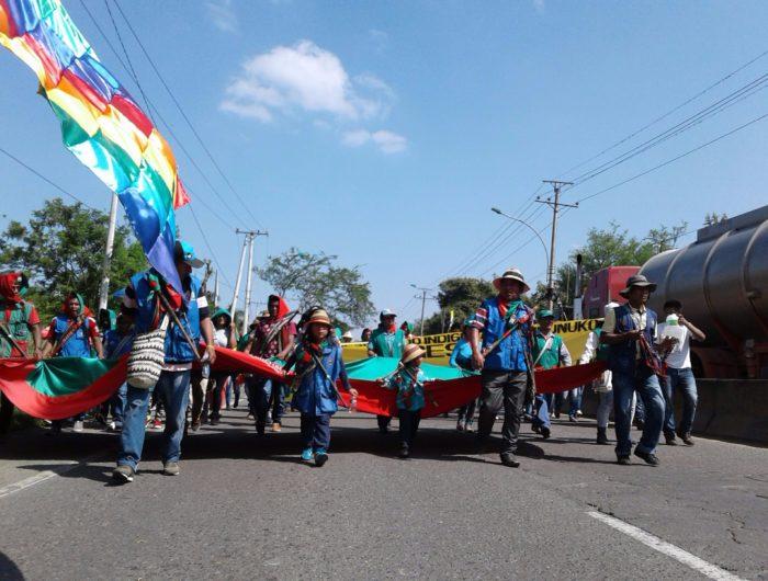Indígenas marchan en rechazo por crímenes contra líderes sociales